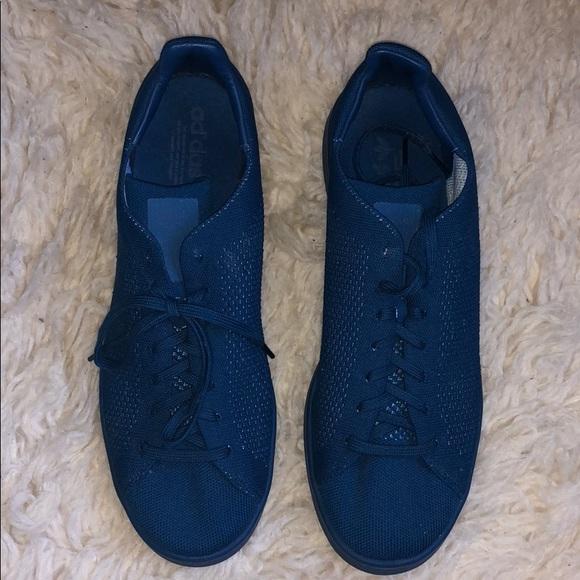 adidas stan smith primeknit blue